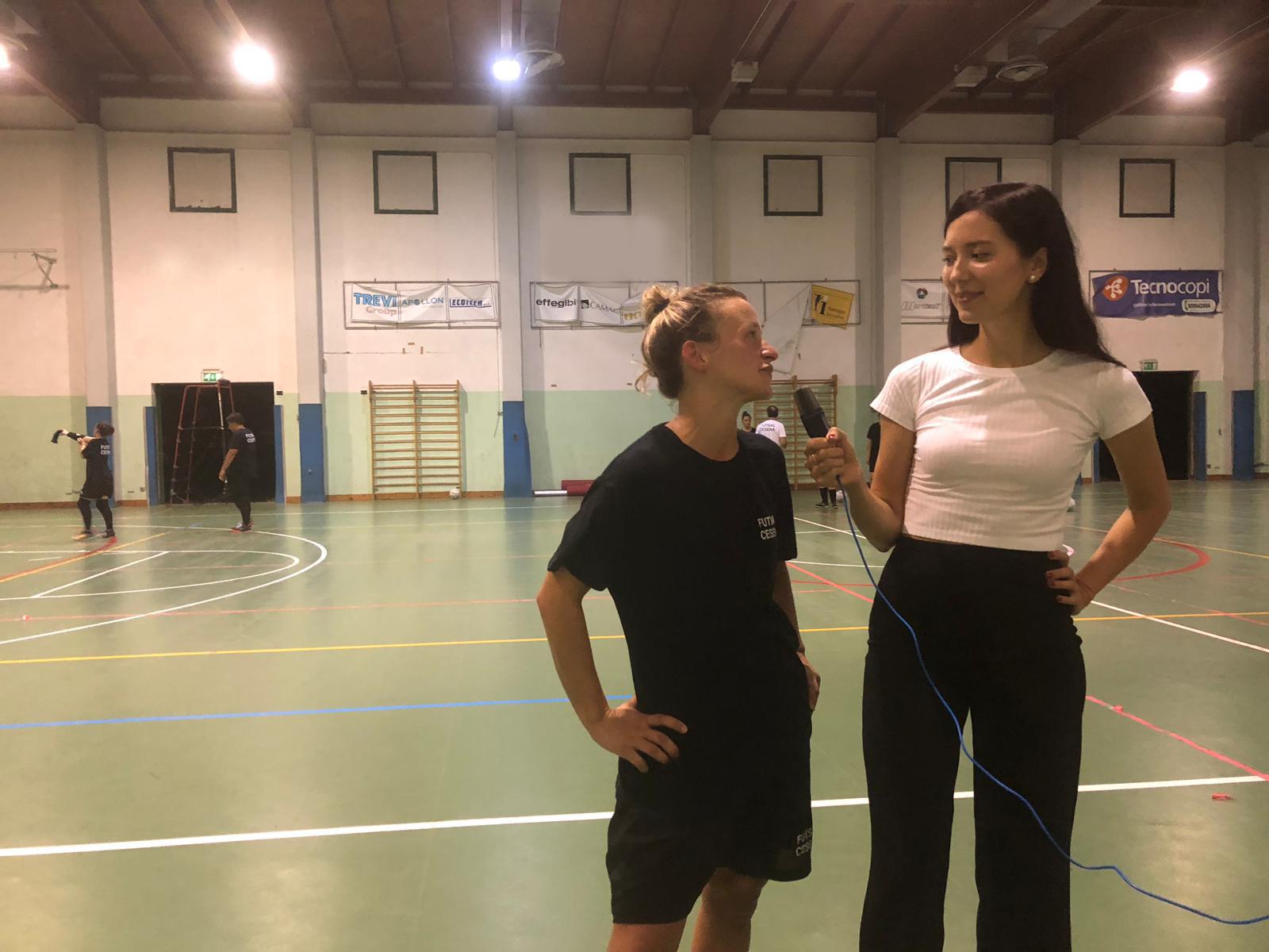 Futsal Cesena Femminile a lavoro